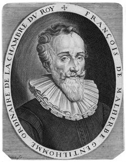 FRANÇOIS de MALHERBE /n(1555-1628). French poet. Copper engraving, French, 17th century.