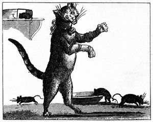 FRANKLIN: WAY TO WEALTH. /nIllustration of the Poor Richard saying, 'The cat