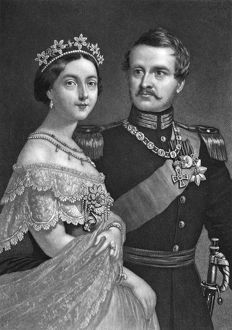FREDERICK III & VICTORIA. Frederick III (1831-1888), Crown Prince of Prussia, 1861-1888