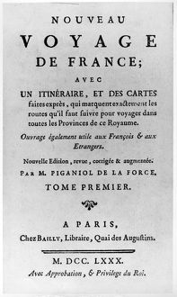 French travel guide, 1780, owned by U.S. President John Adams.