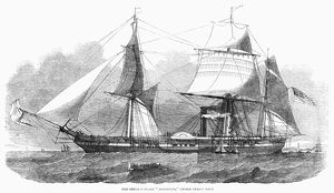 FRIGATE: MISSISSIPPI, 1853. The steam frigate Mississippi of the United States Navy