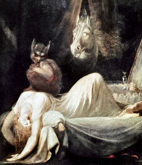 FUSELI: NIGHTMARE, 1781. The Nightmare. Oil on canvas by Henry Fuseli, 1781