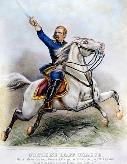 currier ives/george armstrong custer 1839 1876 american