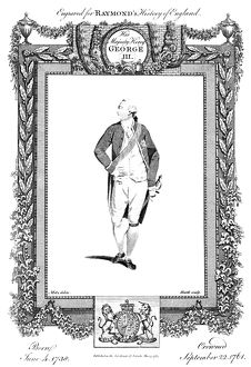 GEORGE III (1738-1820). King of Great Britain, 1760-1820. English line engraving, 1783