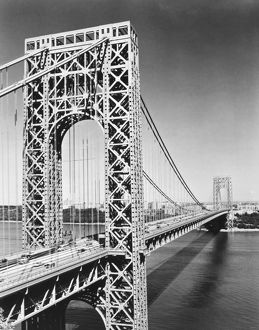 GEORGE WASHINGTON BRIDGE. Spanning the Hudson River to connect Manhattan and New Jersey
