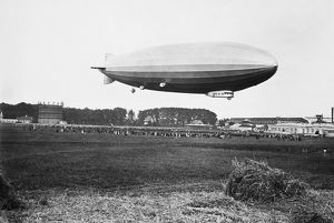 GERMAN AIRSHIP. The German airship ZR 3.