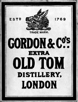 food drink/gin label c1900 gordon company gin label london