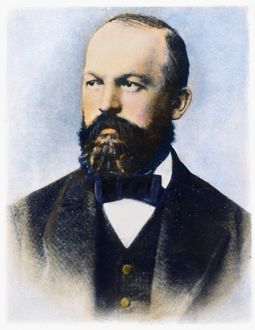 GOTTLIEB DAIMLER (1834-1900). German engineer and inventor. Oil over a photograph