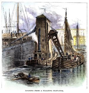 Tow Boat Towing 1857 NEW YORK HARBOR Winter Immigrant Ship Sails Professionally Matted Ballou/'s Pictorial Print Ready to Frame Wall Art