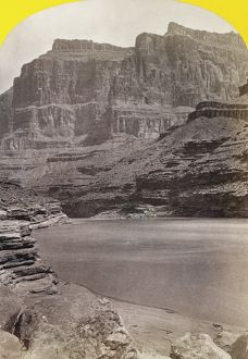 GRAND CANYON, 1872. A view of cliffs along the Colorado River in the Grand Canyon