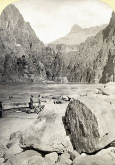 GRAND CANYON, 1872. A view from the foot of Granite Rapid in the Grand Canyon in Arizona