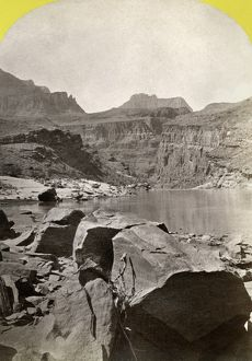 GRAND CANYON, 1872. A view of the head of the Grand Canyon in Arizona. Stereograph