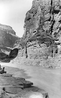 GRAND CANYON, c1884. A view of the mouth of Cataract Creek in the Grand Canyon in Arizona