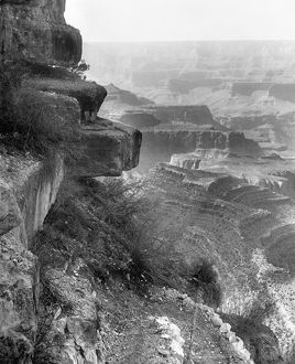 GRAND CANYON, c1906. A view of Hanging Rock on the Grand View Trail, overlooking