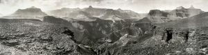 GRAND CANYON, c1909. Panoramic view of the area around Rust's Camp, near the mouth