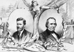 GRANT: ELECTION OF 1872. Campaign poster for Republican presidential nominee