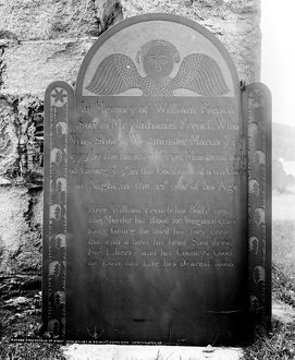 Gravestone of William French, killed in 1775 during the Westminster Massacre in Westminster