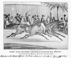 Great race between Peyton and Fashion, for $20,000, at the New York Union Course, 18 May 1845