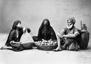 food drink/group egyptians cairo egypt photograph mid