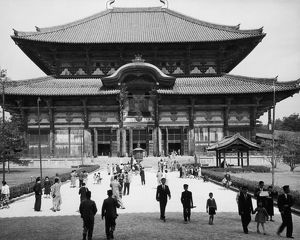 The Hall of the Great Buddha at the Todaiji Temple in Nara, Japan