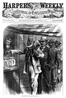 HARPER'S WEEKLY, 1867. 'The First Vote