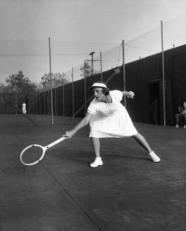 HELEN NEWINGTON WILLS (1906-1998). American tennis player. Photograph, 1945