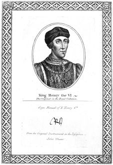HENRY VI (1421-1471). King of England, 1422-1461 and 1470-1471. Etching, 1819
