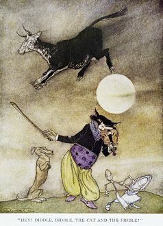 cats/hey diddle diddle drawing arthur rackham 1913