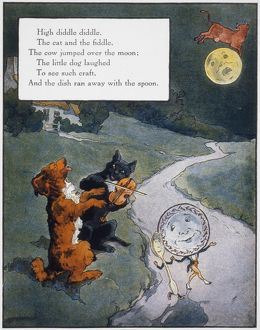 cats/high diddle diddle illustration frederick richardson