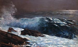 HOMER: COAST, 1890. 'Sunlight on the Coast.' Oil on canvas, Winslow Homer, 1890