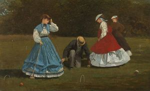 HOMER: CROQUET SCENE, 1866. Oil on canvas, Winslow Homer, 1866