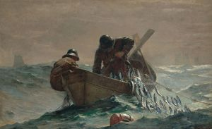 HOMER: HERRING NET, 1885. Oil on canvas, Winslow Homer, 1885