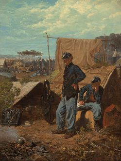 HOMER: HOME, SWEET HOME. Oil on canvas, Winslow Homer, 1863
