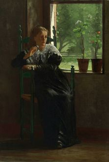 HOMER: AT THE WINDOW, 1872. Oil on canvas, Winslow Homer, 1872