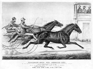 HORSE RACING, c1868. 'Goldsmith Maid and American Girl