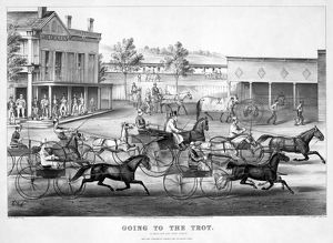 HORSE RACING, c1869. 'Going to the Trot: A Good Day and Good Track