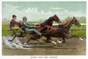 HORSE RACING, c1891. 'Going for the Money
