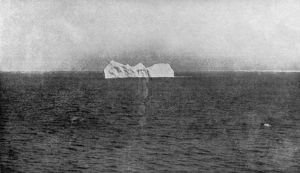 ICEBERG, 1912. An iceberg in the Atlantic Ocean, similar to the one that sank the