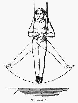 Illustration from an American exercise manual, 19th century