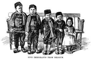 IMMIGRANTS, 1891. 'Five immigrants from Belgium.' Engraving, 1891