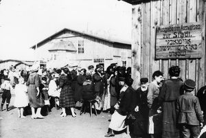 IMMIGRATION: DANZIG, 1920. Polish Jews and refugees in a quarantine station in Danzig