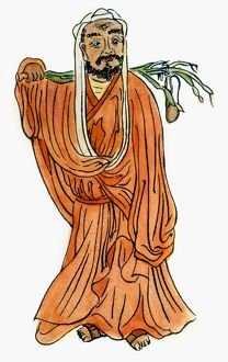 Indian Buddhist monk; founder of the Zen sect of Buddhism