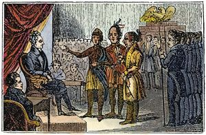 JACKSON AND NATIVE AMERICANS. The 1833 meeting at the White House of President Andrew