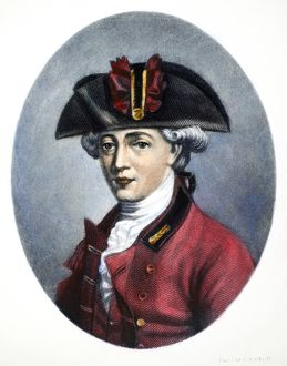 JOHN ANDRE (1751-1780). English soldier. Mezzotint, American, 19th century