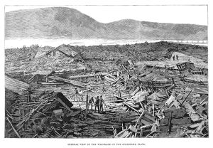 JOHNSTOWN FLOOD, 1889. 'General view of the wreckage on the Johnstown flats