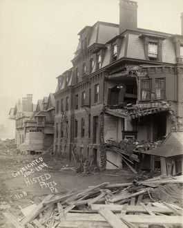 JOHNSTOWN FLOOD, 1889. The ruined Club House in Johnstown, Pennsylvania, after