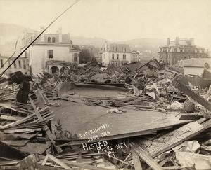 JOHNSTOWN FLOOD, 1889. The ruined Club House and Morrell Institute in Johnstown