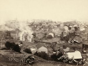 JOHNSTOWN FLOOD, 1889. A view of Johnstown, Pennsylvania, after the Johnstown Flood