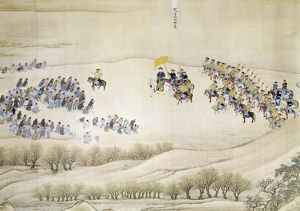 K'ang Hsi, Ch'ing emperor of China (1661-1722), on an inspection tour in the south