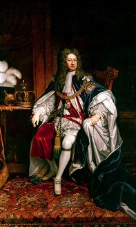 KING GEORGE I OF ENGLAND (1660-1727). King of England, 1714-1727. Canvas, 1716